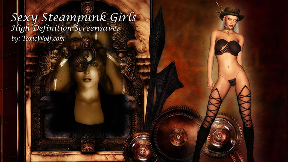 Sexy Steampunk Girls Hi-Def Screensaver