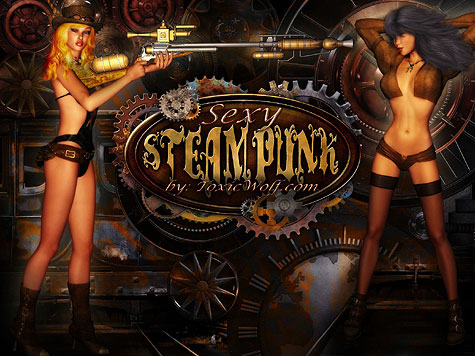 Sexy Steampunk Screensaver